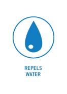 Repels Water